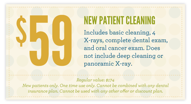 $59 New Patient Cleaning
