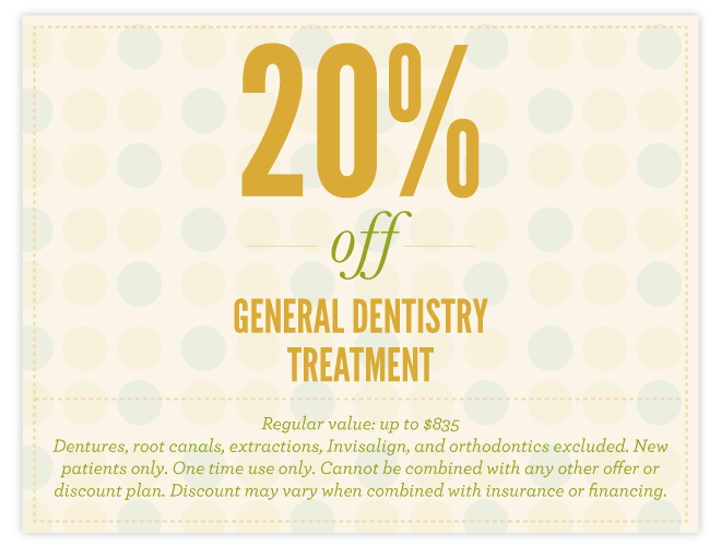 20% off General Dentistry Treatment